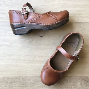 Dansko Marcelle Cognac Mary Jane Clogs - 35